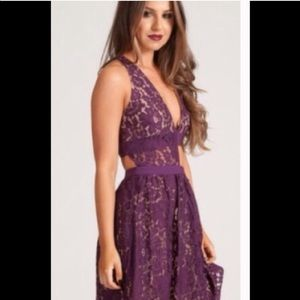 Style stalker lace cut out dress size small